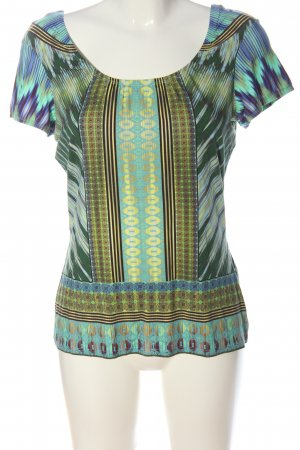 Comma Camisa de cuello barco estampado con diseño abstracto look casual