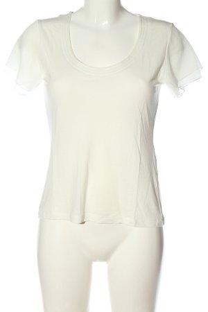 Comma Koszulka z dekoltem w łódkę biały W stylu casual