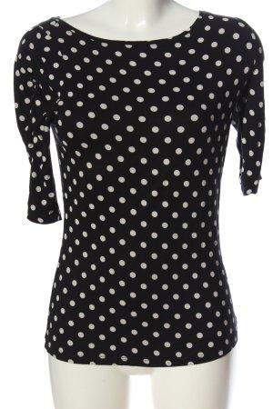 Comma Boothalsshirt zwart-wit volledige print casual uitstraling