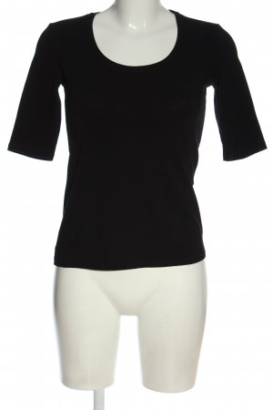 Comma U-Boot-Shirt schwarz Casual-Look