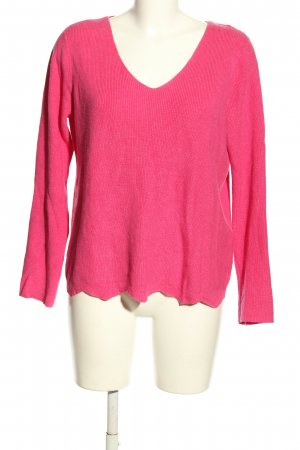 Comma Jersey con cuello de pico rosa look casual