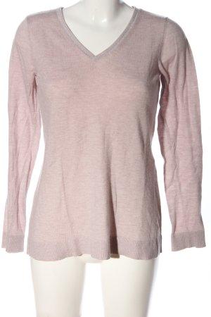 Comma V-Ausschnitt-Pullover pink Casual-Look