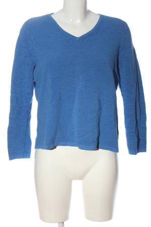 Comma V-Ausschnitt-Pullover blau Casual-Look