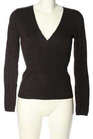 Comma V-Ausschnitt-Pullover braun Casual-Look