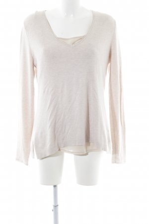 Comma V-Ausschnitt-Pullover creme Casual-Look