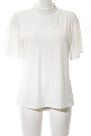 Comma V-Ausschnitt-Shirt weiß Business-Look