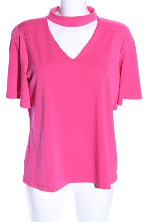 Comma V-Ausschnitt-Shirt pink Casual-Look