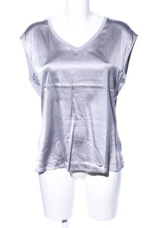 Comma V-Ausschnitt-Shirt hellgrau Casual-Look