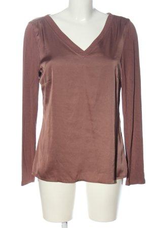 Comma V-Neck Shirt grey lilac-mauve viscose