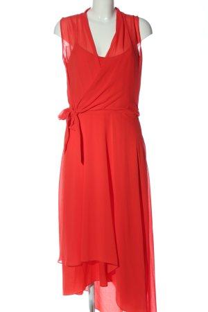 Comma Asymetryczna sukienka czerwony Elegancki