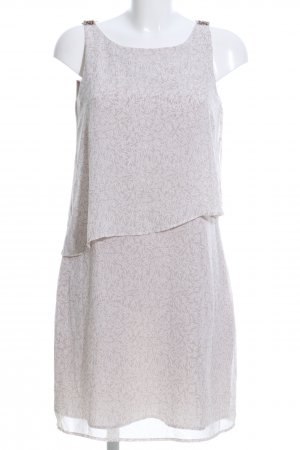 Comma Flounce Dress white-pink abstract pattern business style