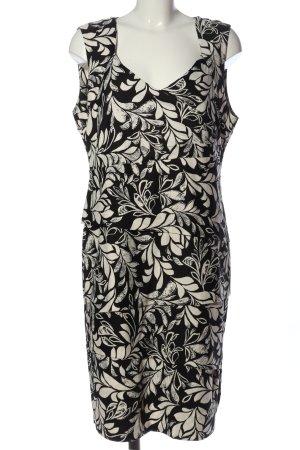 Comma Flounce Dress white-black allover print business style