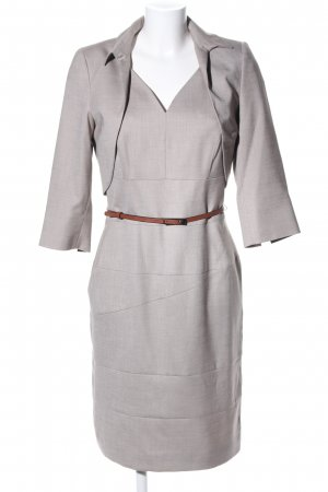 Comma Woven Twin Set light grey weave pattern business style