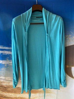 Comma Veste chemise turquoise