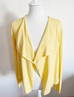 Comma Chaleco de punto amarillo-amarillo pálido