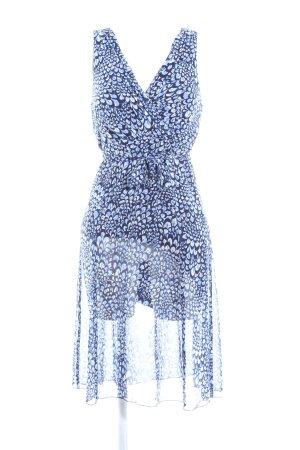 Comma Robe portefeuille bleu imprimé allover style décontracté