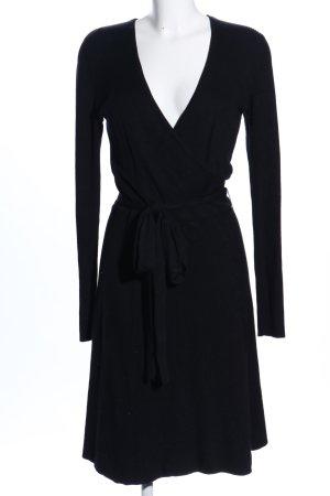 Comma Vestido cruzado negro estilo «business»