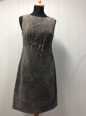 Comma Vestito in pelle grigio Scamosciato