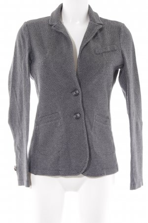 Comma Woll-Blazer grau-schwarz Fischgrätmuster Casual-Look
