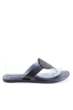 Comma Toe-Post sandals black casual look