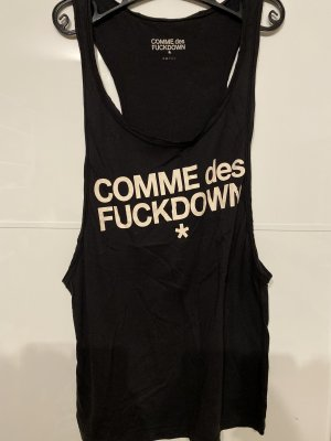 COMME des FUCKDOWN Top cut out negro
