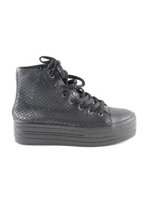 Comme des Garçons Sneaker alta nero stile casual