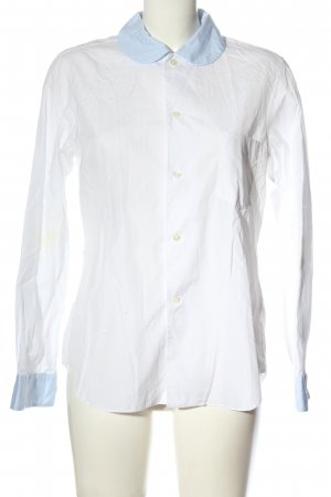 Comme des Garçons Long Sleeve Shirt white-blue casual look