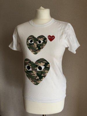 Comme des Garçons T-Shirt white-green grey