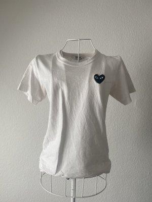 Comme des Garçons T-Shirt white-black cotton