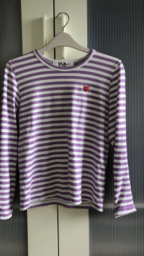 Comme des Garçons Stripe Shirt white-purple