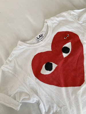 Comme des Garçons T-Shirt white-red
