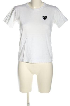 Comme des Garçons T-Shirt weiß Casual-Look