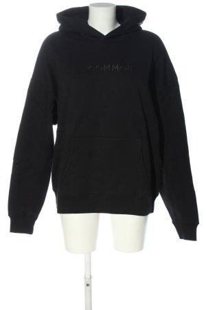 Common Apparel Kapuzensweatshirt schwarz Schriftzug gedruckt Casual-Look