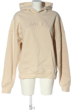 Common Apparel Kapuzensweatshirt creme Schriftzug gestickt Casual-Look