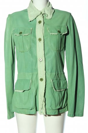 compagnia italiana Leather Jacket green casual look