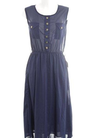 Compañia Fantastica Midi Dress dark blue transparent look