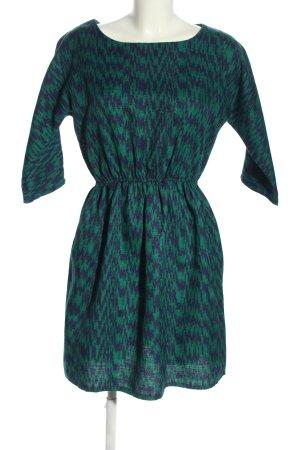 Compañia Fantastica Minikleid grün-blau abstraktes Muster Casual-Look