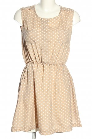 Compañia Fantastica Minikleid creme-weiß Punktemuster Casual-Look