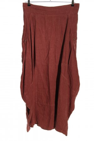 completo lino by arthurio Linen Skirt brown casual look