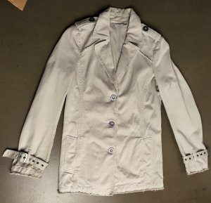 Comptoir des Cotonniers Long Jacket natural white-light grey cotton