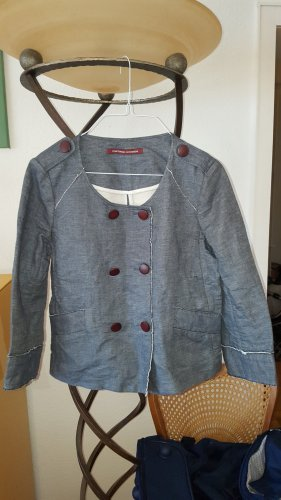 Comptoir des Cotonniers Short Blazer pale blue-azure cotton