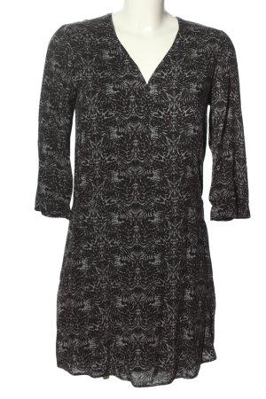 Comptoir des Cotonniers A-Linien Kleid hellgrau abstraktes Muster Casual-Look
