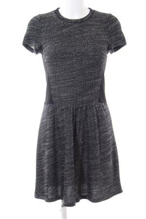 Comptoir des Cotonniers A-Linien Kleid hellgrau-schwarz meliert Business-Look