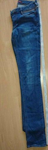Comptoir des cotonniers, Blue Jeans, Gr 36, mit Leder Applikation, Neuwertig
