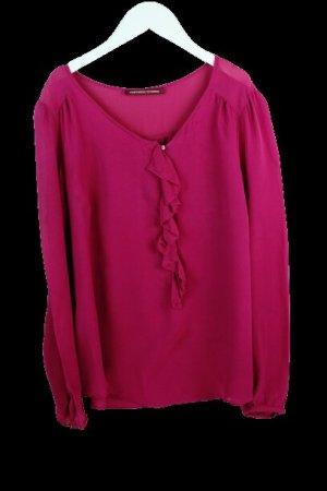 Comptoir des Cotonniers Blusa in seta rosso lampone-magenta Seta
