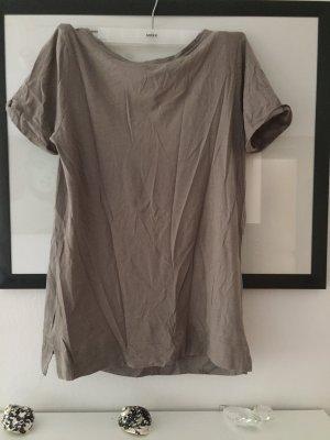 Comptoir des Cotonniers Short Sleeved Blouse grey brown
