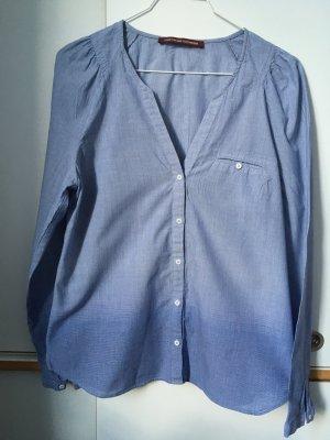 Comptoir des Cotonniers Camicetta a maniche lunghe blu acciaio Cotone