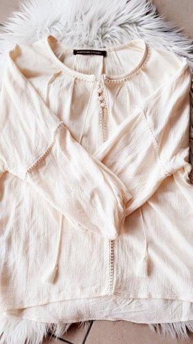 Comptoir des Cotonniers Bluse Tunika Creme Weiß  Quasten Creme