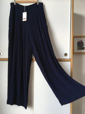 Comptoir des Cotonniers Marlene Trousers dark blue viscose