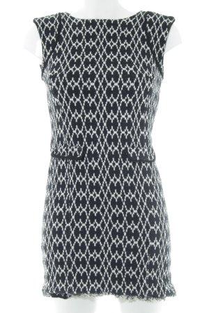 Comptoir des Cotonniers Etuikleid schwarz-weiß grafisches Muster Vintage-Look